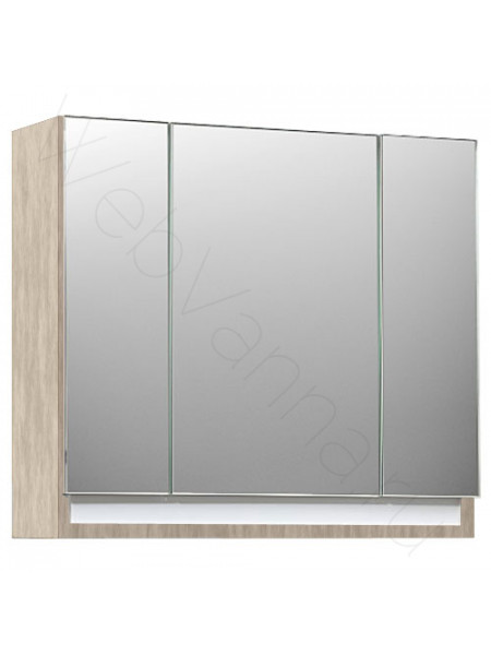Зеркальный шкаф Valente Massima M1000.12, 100 см, шпон кремовый
