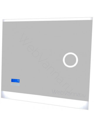 Зеркало Valente Versante New Cl 700.11 03, 70 см, с подсветкой, подогревом, часами, косметическим зеркалом