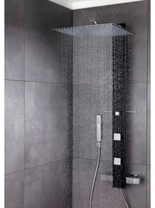 Душевая панель Valentin I-Deco Tower black, черное стекло, термостат