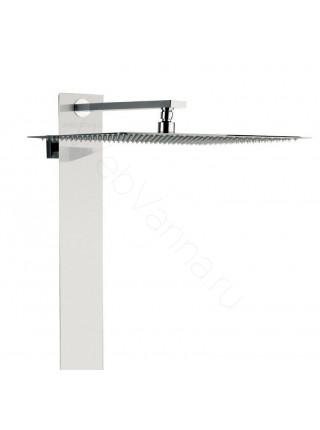 Душевая панель Valentin I-Deco Tower white, белое стекло, термостат