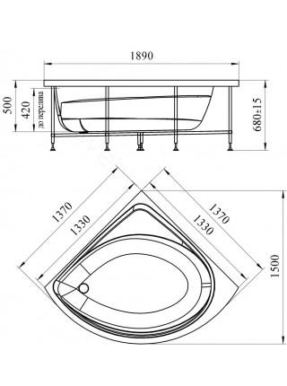 Гидромассажная ванна Wachter Эмилия 137х137 White