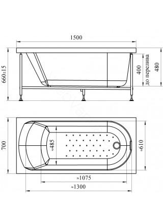 Акриловая ванна Vannesa Ника 150х70