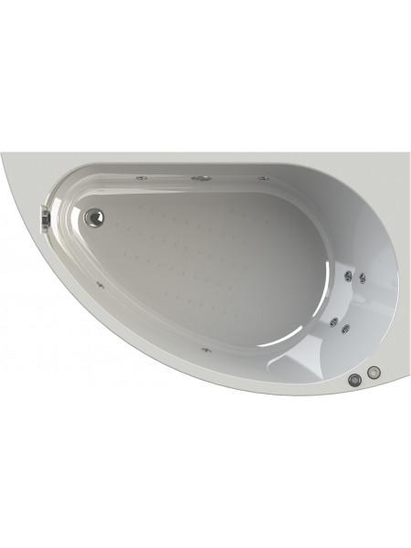 Гидромассажная ванна Wachter Бергамо 168х100 правая Chrome