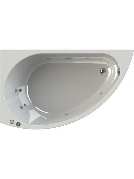 Гидромассажная ванна Wachter Бергамо 168х100 левая Chrome