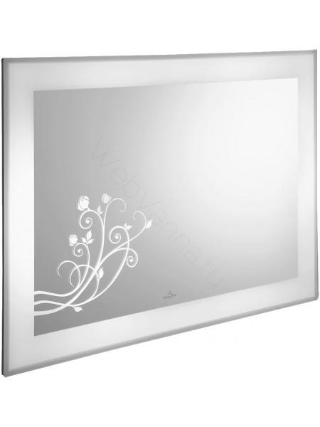 Зеркало Villeroy&Boch La Belle A337 A5 00, 105 см, белое, с подсветкой