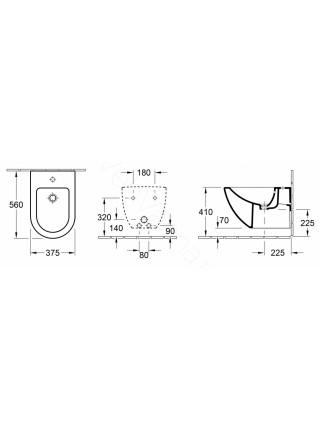 Биде подвесное Villeroy&Boch Verity Design 5403 00 01