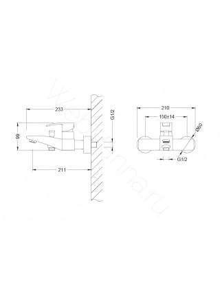 Смеситель для ванны Zeegres Z.Art 54002001
