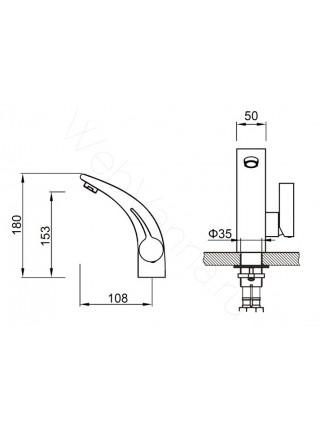 Смеситель для раковины Zeegres Z.Art 54003001