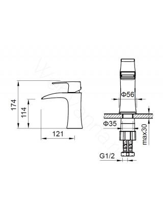 Смеситель для раковины Zeegres Z.Kon 72003001