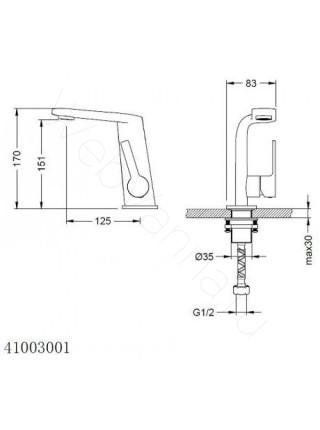 Смеситель для раковины Zeegres Z.Monza 41003001