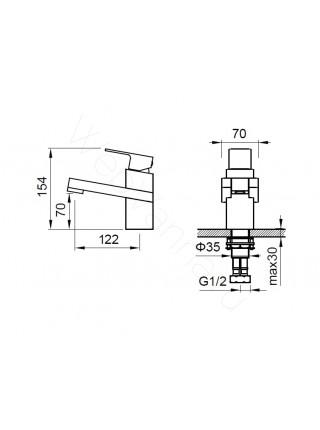Смеситель для раковины Zeegres Z.Parall 11001001