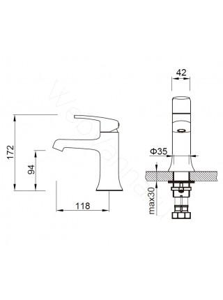 Смеситель для раковины Zeegres Z.Rill 47003001