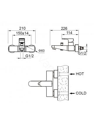 Смеситель для ванны Zeegres Z.Roy 33002001
