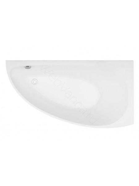 Акриловая ванна Aquanet Augusta 170x90, левая/правая, с каркасом