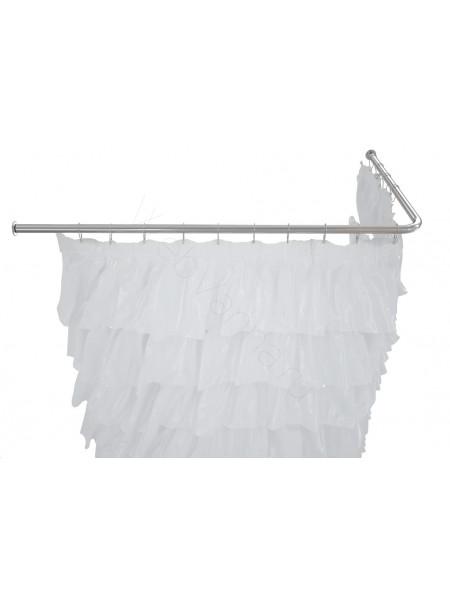Карниз на ванну Г-образный 190х100, нерж. cталь