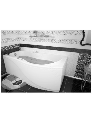 Акриловая ванна Aquanet Borneo 170x75/90, левая/правая, с каркасом