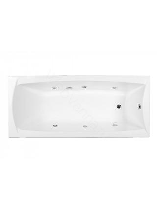 Акриловая ванна Aquanet Cariba 170x75, с каркасом