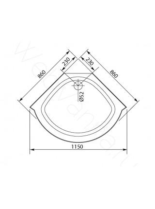 Душевая кабина Aquanet MALIBU 86x86 Г/М