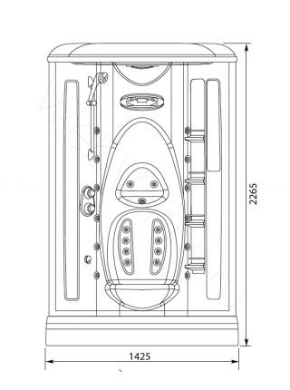 Душевая кабина Aquanet Taiti 110x110