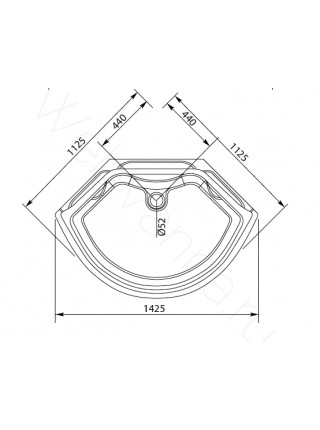 Душевая кабина Aquanet TAITI 110x110 Г/М