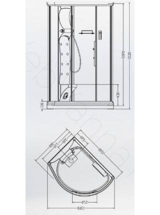 Душевая кабина Aquanet TAURUS 120x90 L