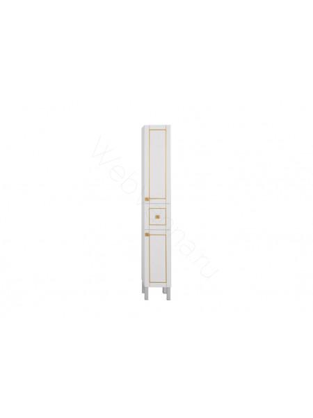 Пенал Aquanet Честер 30 см, белый/патина золото