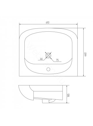 Раковина мебельная Акватон Акваполо-6533, 65 см