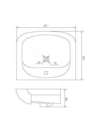 Раковина мебельная Акватон Акварель 60 см