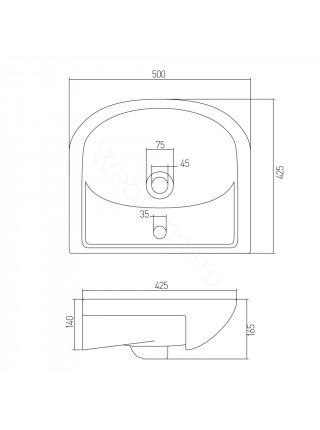 Раковина мебельная Акватон Акватоп 50 см