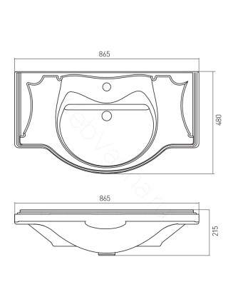 Раковина мебельная Акватон America 85 см