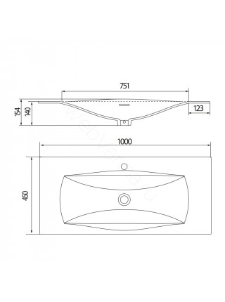 Раковина мебельная Акватон Блент Д, 100 см, белая