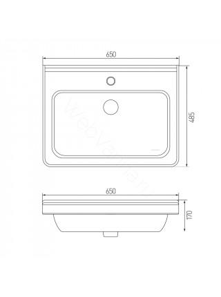 Раковина мебельная Акватон Cubito 65x48 см