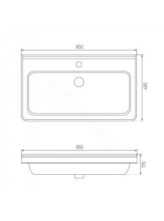 Раковина мебельная Акватон Cubito 85x48 см