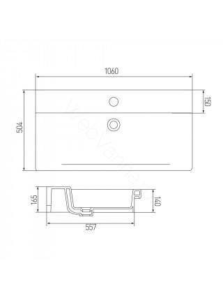 Раковина мебельная Акватон GURAL-105 см