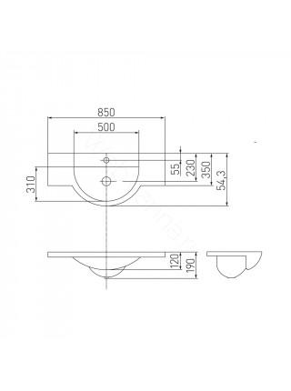 Раковина мебельная Акватон Лацио 85 см, белая