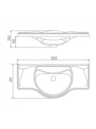 Раковина мебельная Акватон Лаура 105 см, белый мрамор