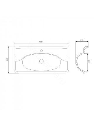 Раковина мебельная Акватон Венеция 90 см, белая