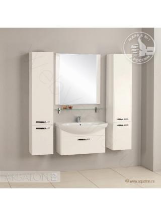 Зеркало Акватон Ария 80 см, белое