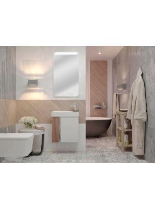 Зеркало Акватон Вита 46 см, белое, с подсветкой
