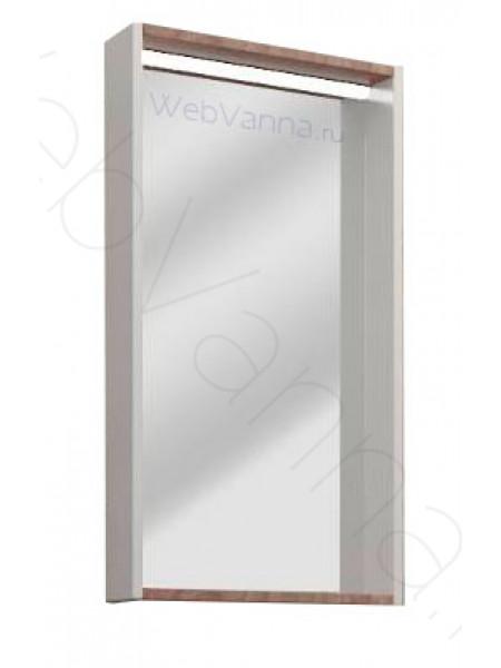Зеркало Акватон Бэлла 46 см, белый/джара, с подсветкой