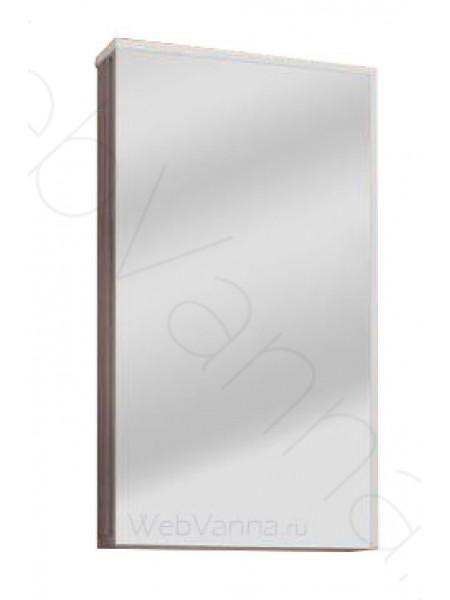 Зеркальный шкаф Акватон Эмма 46 см, белый/дуб навара