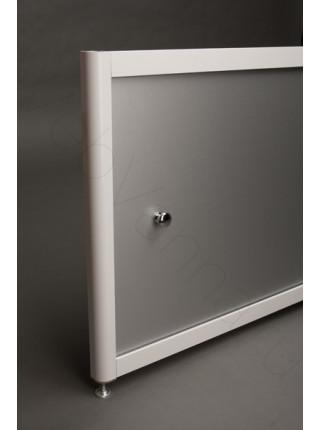Экран под ванну A-Screen Алюминий 2 дв. шир. от 1701 до 2000 мм, выс. до 650 мм.