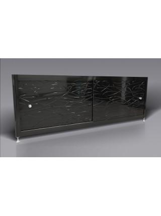 Экран под ванну A-Screen Grass-black 2 дв. шир. от 1501 до 1700 мм, выс. до 650 мм.