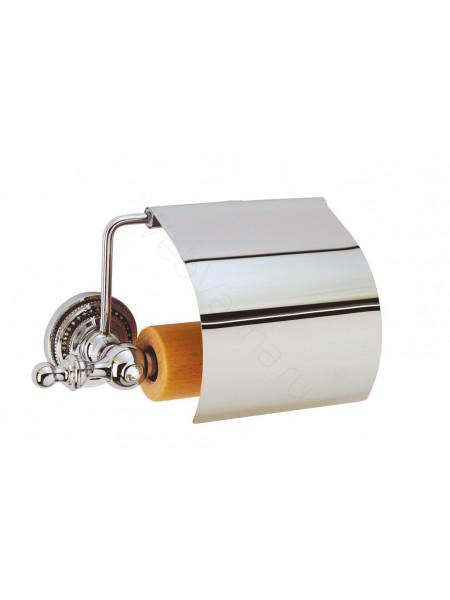 Держатель для туалетной бумаги с крышкой Boheme Brillante хром