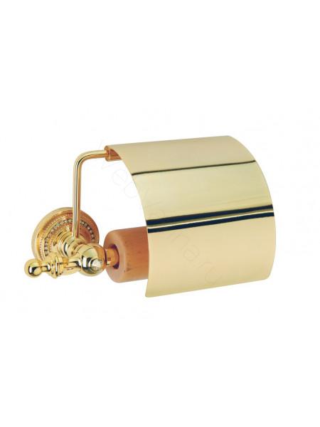Держатель для туалетной бумаги с крышкой Boheme Imperiale золото