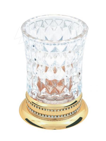 Настольный стакан для зубных щеток Boheme Imperiale золото