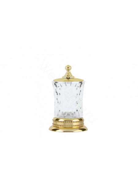 Настольный стакан для ватных дисков Boheme Imperiale золото