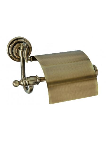 Держатель для туалетной бумаги с крышкой Boheme Medici бронза