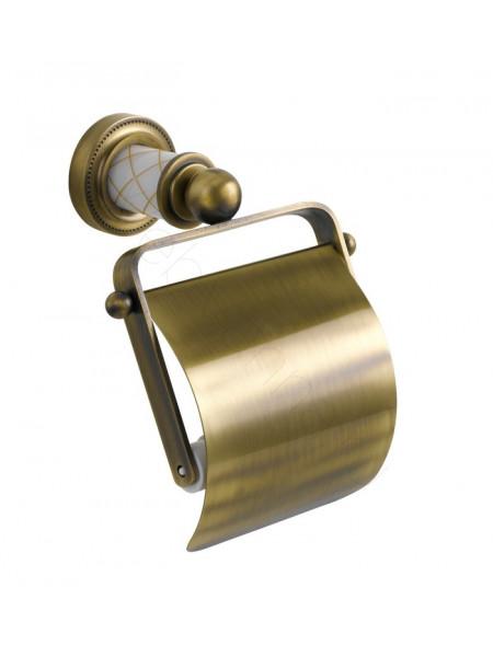 Держатель для туалетной бумаги с крышкой Boheme Murano бронза