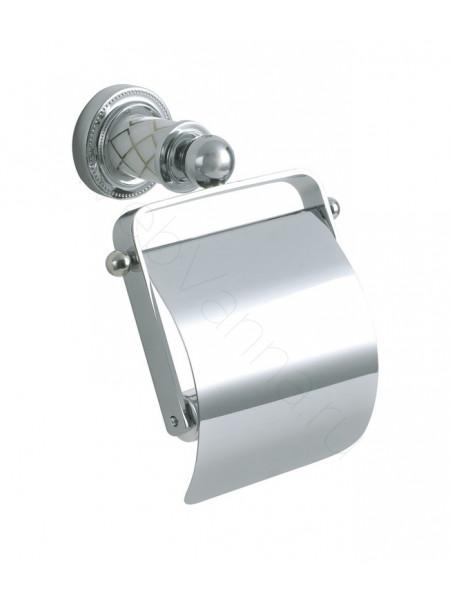 Держатель для туалетной бумаги с крышкой Boheme Murano хром